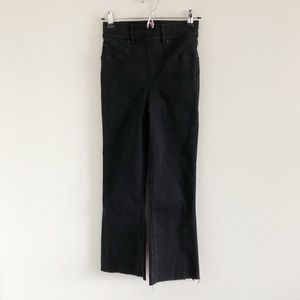 SPANX Cropped Flare Jeans in Black XS
